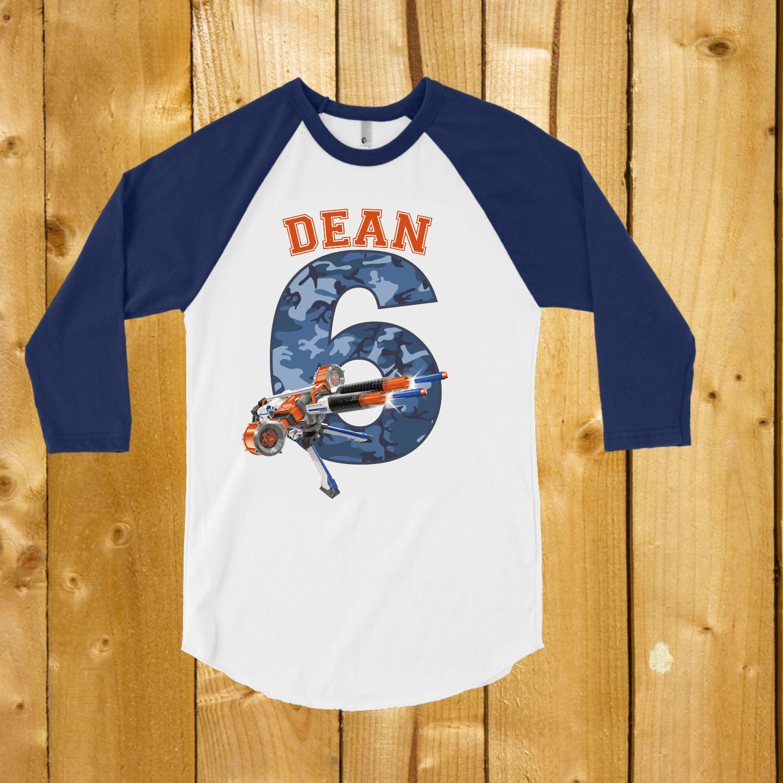 Personalized shirt for the foam dart Nerf gun lover Nerf Birthday party shirt