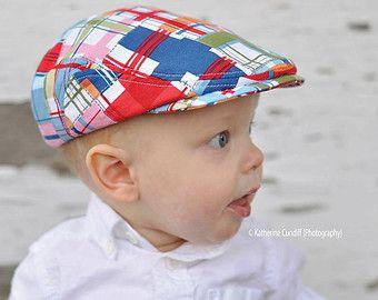 Flache Hut für Baby Baby Zeitungsjunge Hut rote von DakkoBabySC