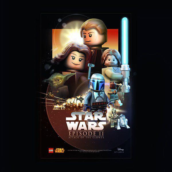Wallpaper Ap28 Starwars Lego Episode 2 Attack Of Clones Art Film Lego Batman Wallpaper Lego Star Wars Lego Poster