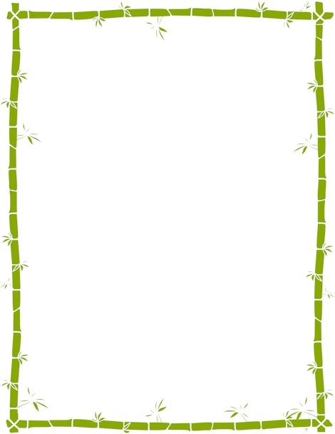 bamboo border marcos y bordes pinterest