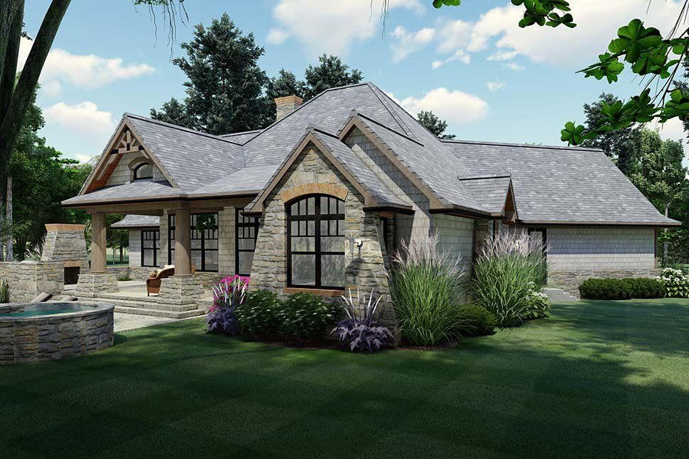House Plan Tuscan Style with 1848 Sq Ft 3 Bedrooms 2 Bathrooms 2 Car Garage