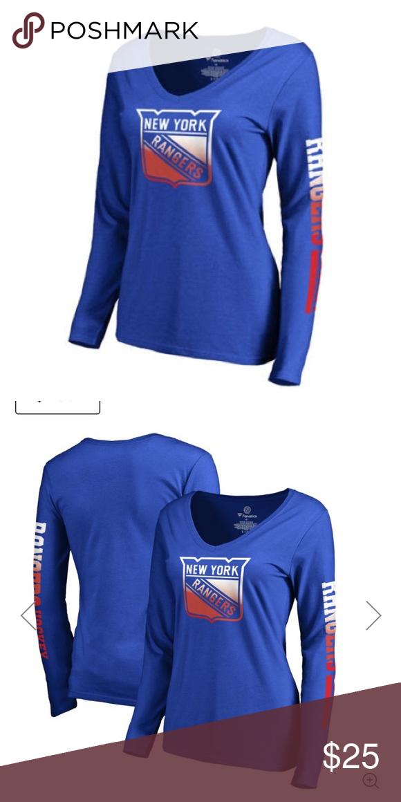 🔵🔴WOMENS NEW YORK RANGERS LONG SLEEVE TOP Women s New York Rangers  Fanatics Branded Blue 0e023afff