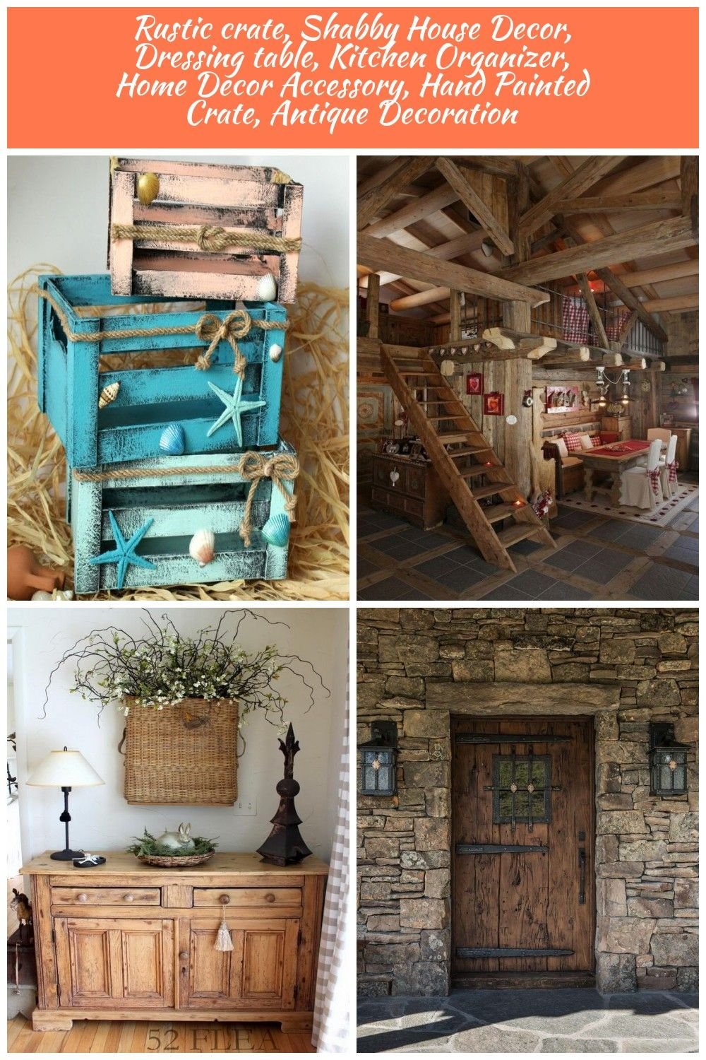 Rustic Crates Set Of 3 Crates Shabby House Decor Nautical Wooden Crates Kitchen Organizer Home Decor Accessory W Home Decor Accessories Cabin Decor Decor