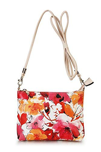Diophy Clutch Small Floral Print Cross Body Shoulder Purse Bag Women Ladies Handbag Removable Shoulder, BY-1916