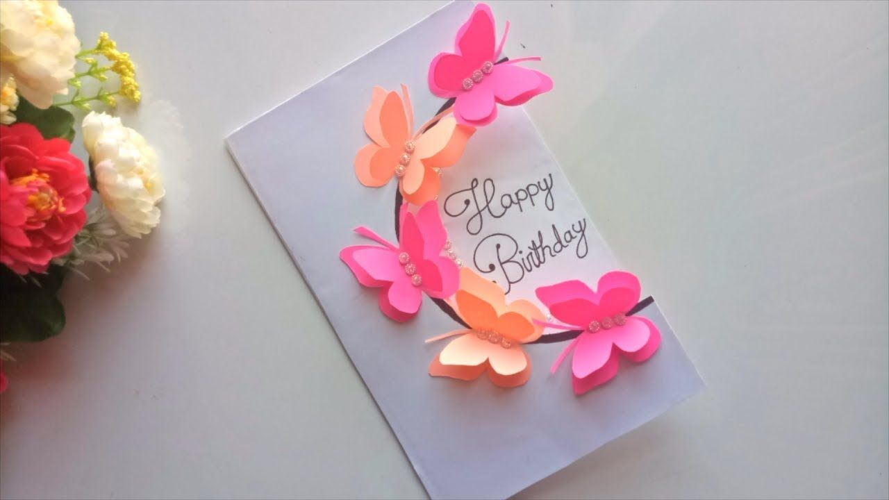 Enjoyable Beautiful Handmade Birthday Card Idea Diy Greeting Pop Up Cards Personalised Birthday Cards Veneteletsinfo