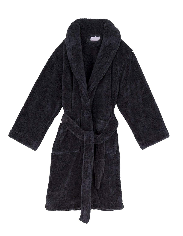 Boys Robe - Kids Plush Shawl Fleece Bathrobe - Made in Turkey - Charcoal -  CZ11Z9T4D57 | Kids robes, Girl outfits, Kids outfits