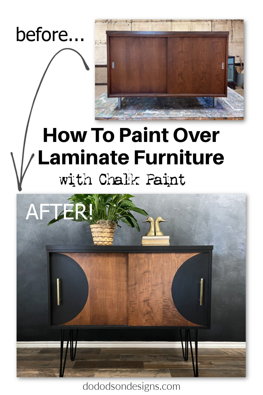 How To Paint Over Laminate Furniture With Chalk Pa