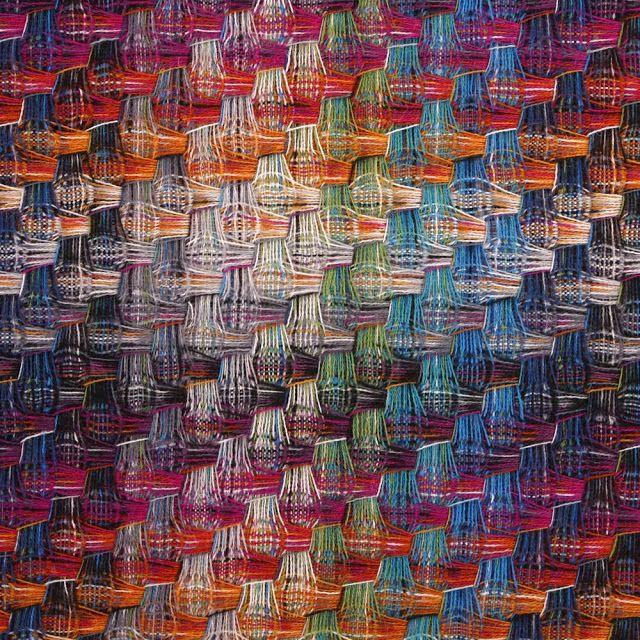 Missoni | Rosita Missoni: designer | Husky 100 plaid throw | wool | deflected double weave | Italy | 2013