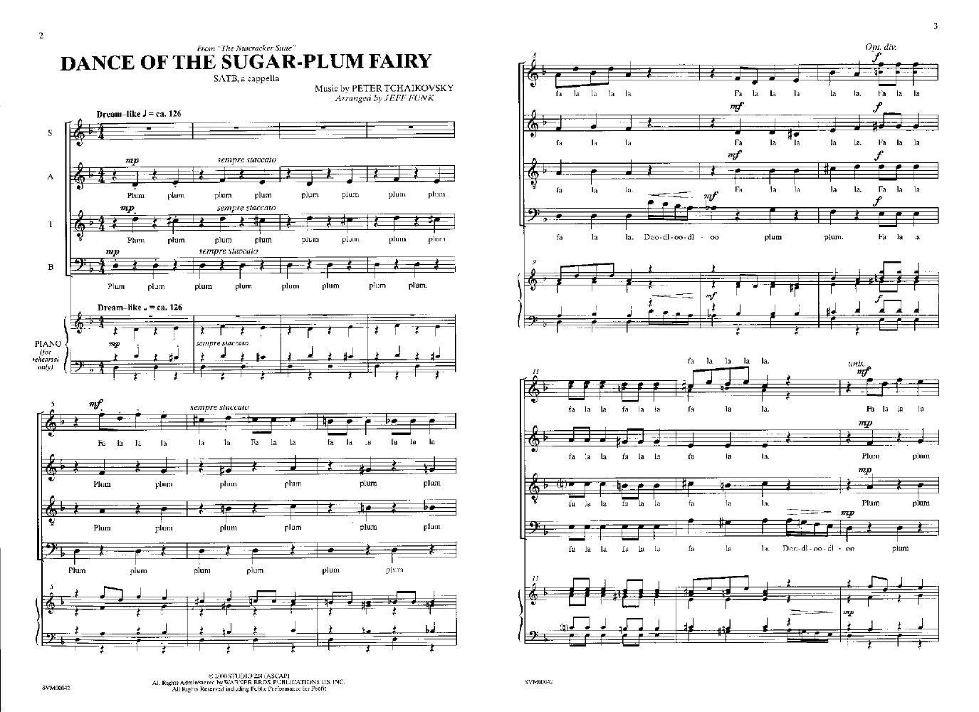 Dance of the Sugar-Plum Fairy - one of a set of four a cappella