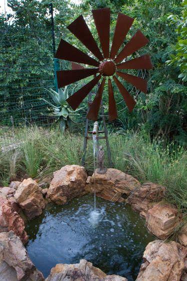 Windmill Water Feature Outdoor Living Garden Windmill