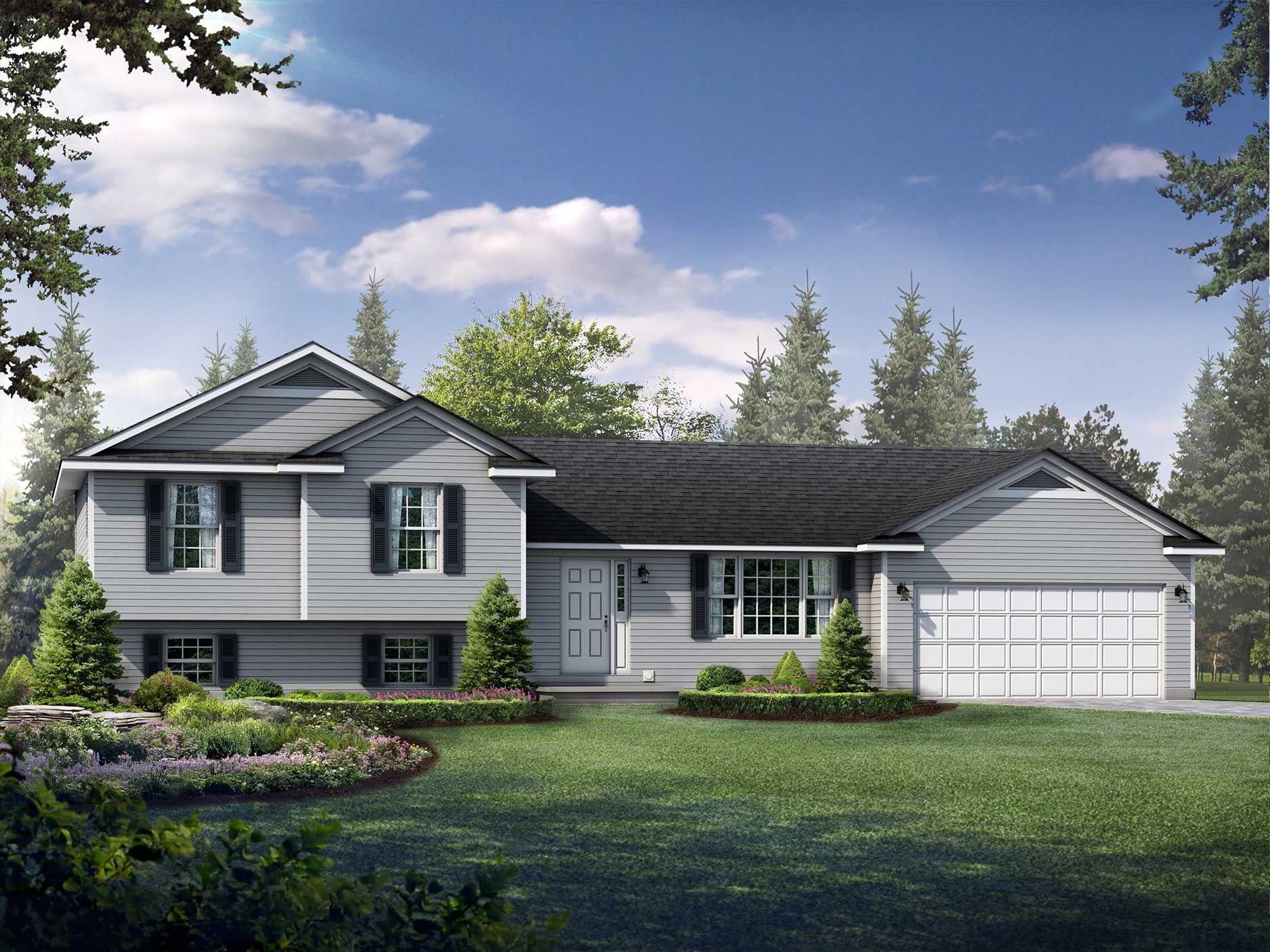 Lexington Floor Plan SplitLevel Custom Home (With images