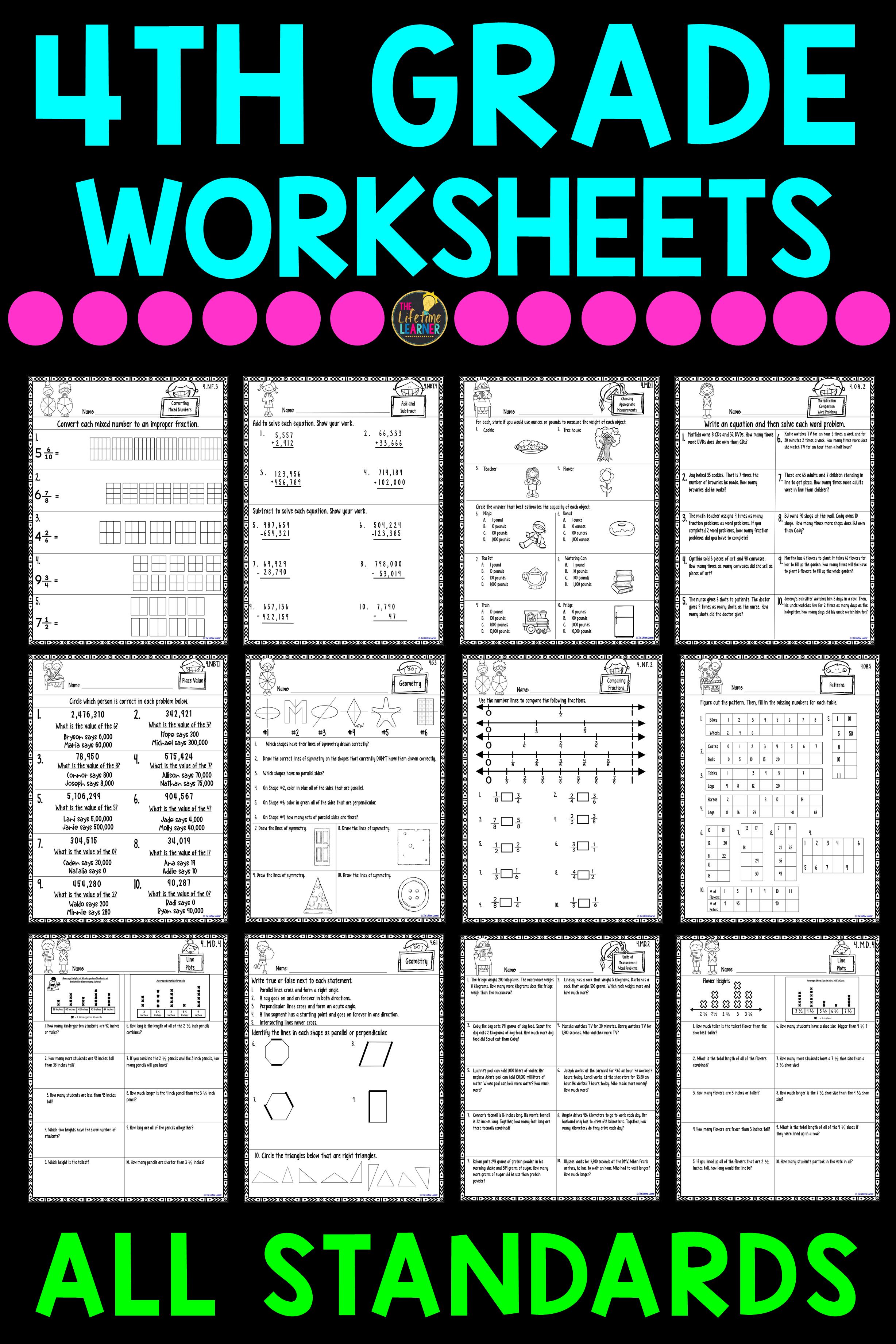 4th Grade Math Worksheets Bundle 4th Grade Math Worksheets Math Worksheets 4th Grade Math [ 3684 x 2456 Pixel ]