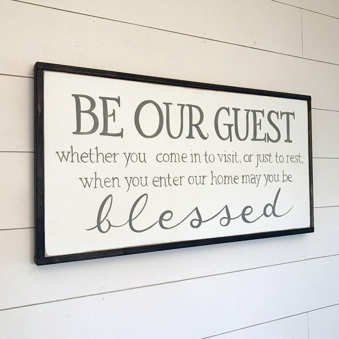 """Farmhouse Sign I made for the guest bedroom. """"Kick off"""