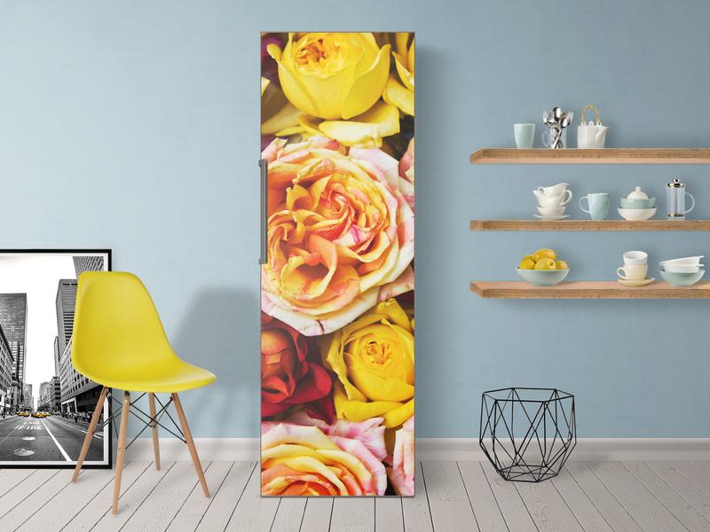 Retro Kühlschrank Folie : Wundervolle kühlschrankfolie mit rosen muster