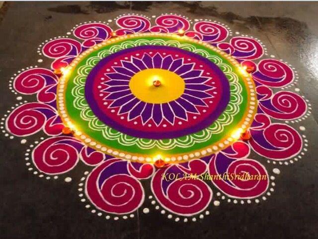 Circle rangoli design images new