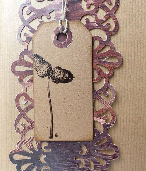 Woodland rubber stamp / Acorn / Unmounted rubber by MAKIstamps, €2.70