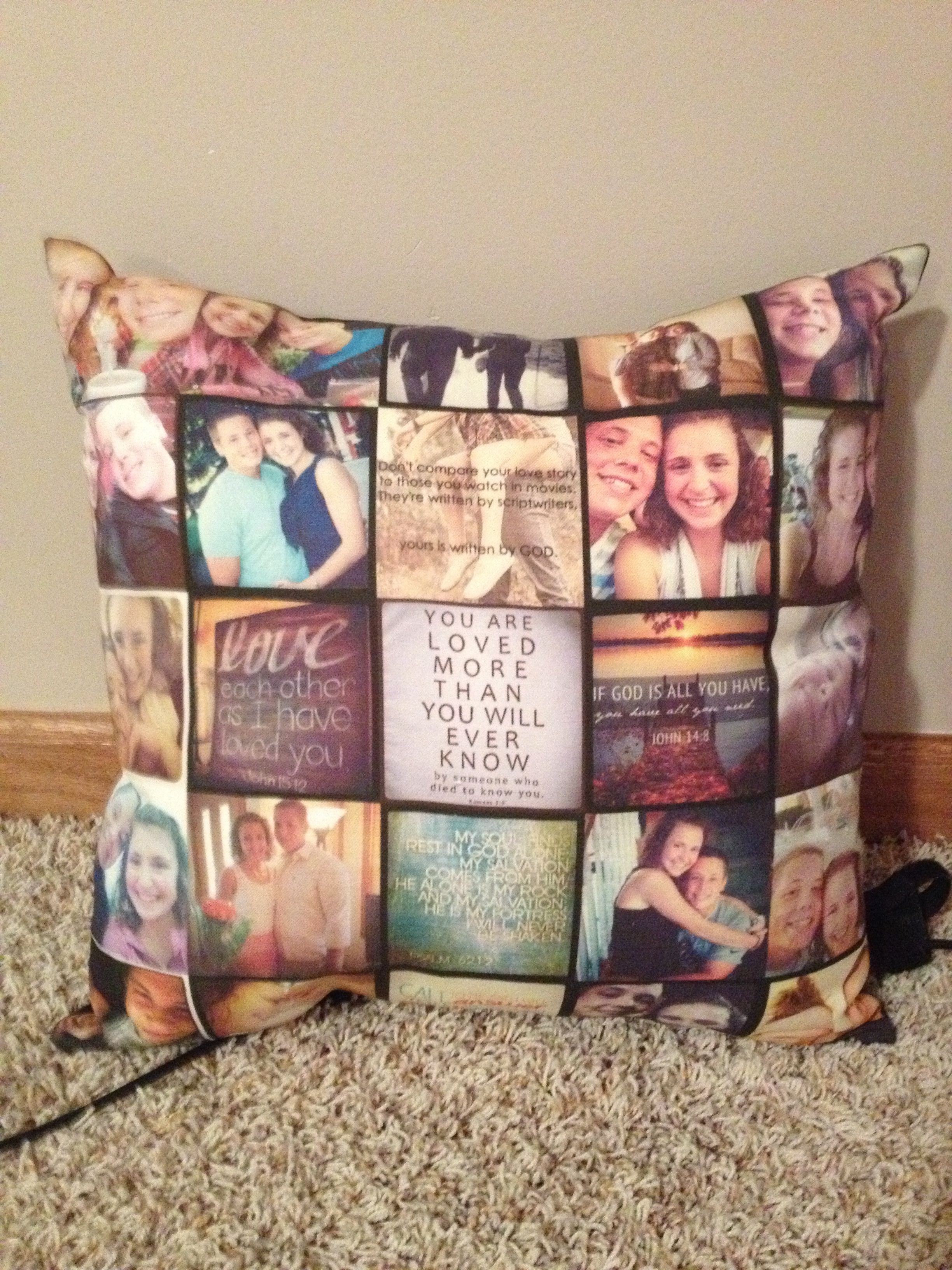 Pillow with pictures of your boyfriend and yourself. If I ever continue to  expand my sewing c30f98483a