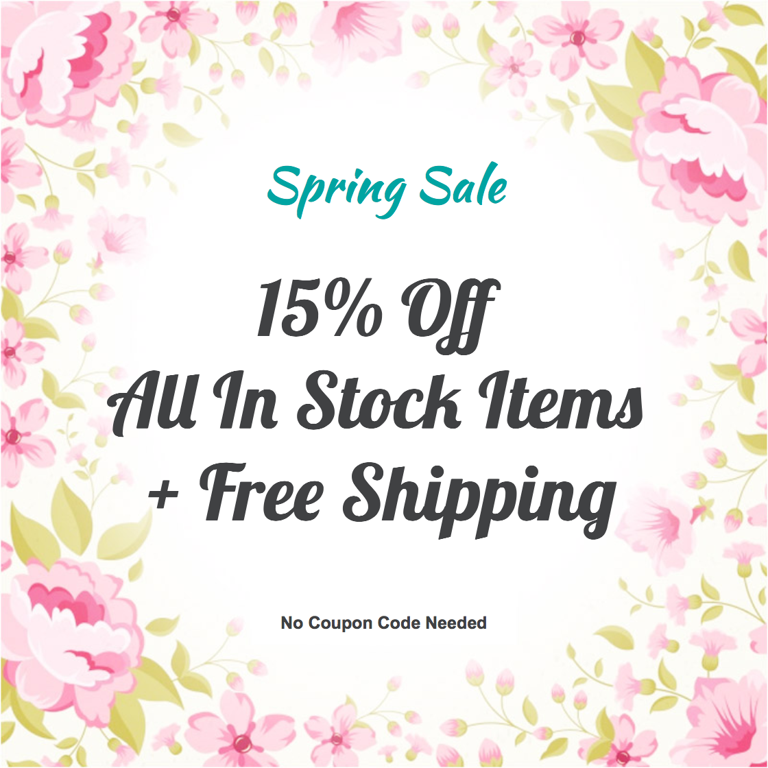 Come Join Us And Celebrate Spring With 15% Off All In
