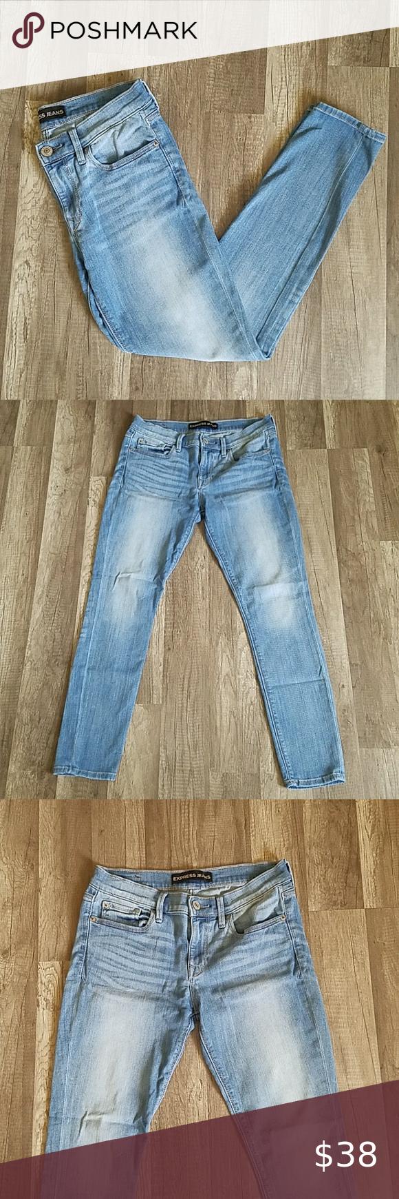 Express Legging Mid Rise Light Blue Jeans 4 Short Express Leggings Light Blue Jeans Skinny Jeans Fall