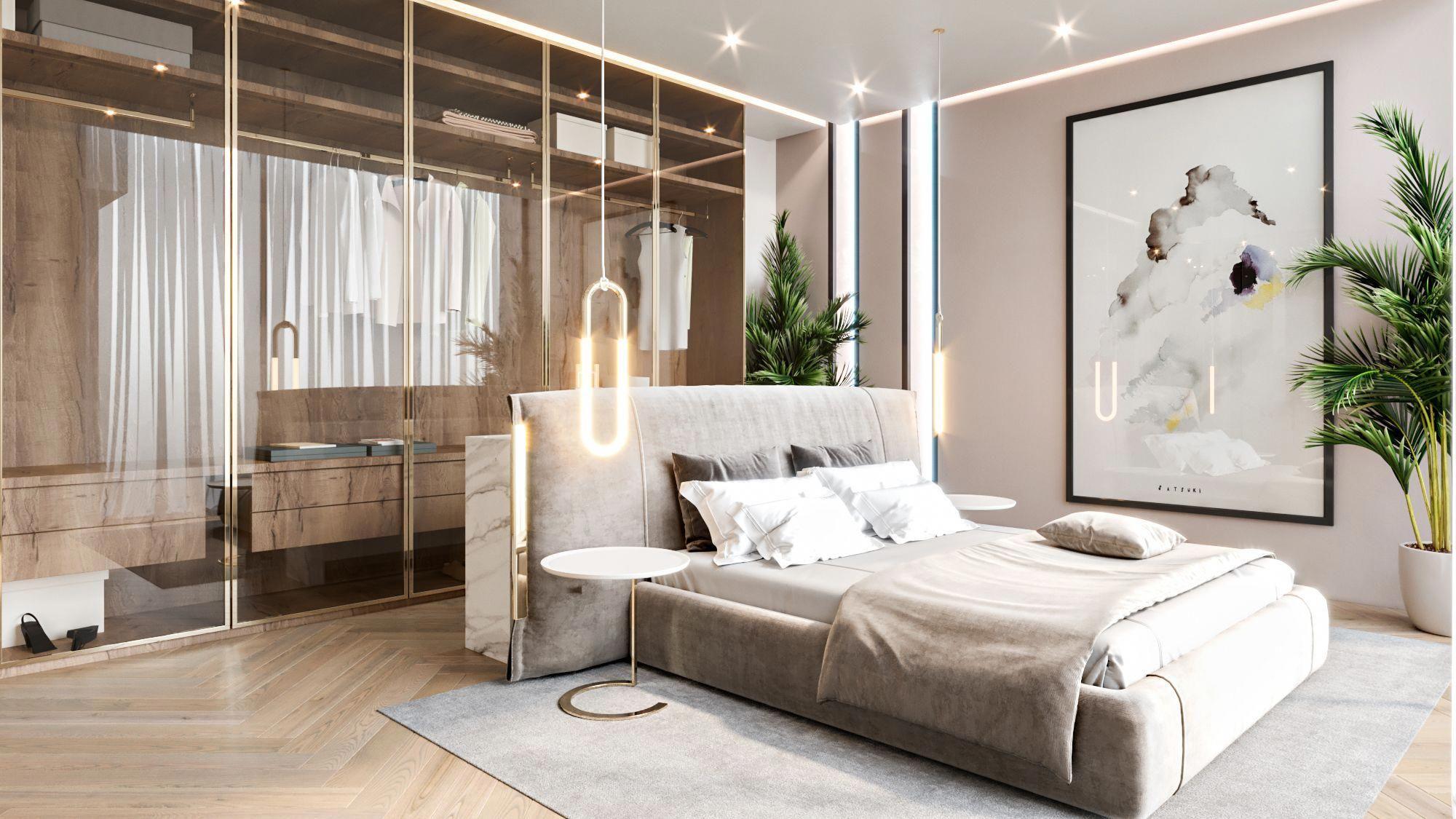 schlafzimmer interior design in dubai #modernesluxus
