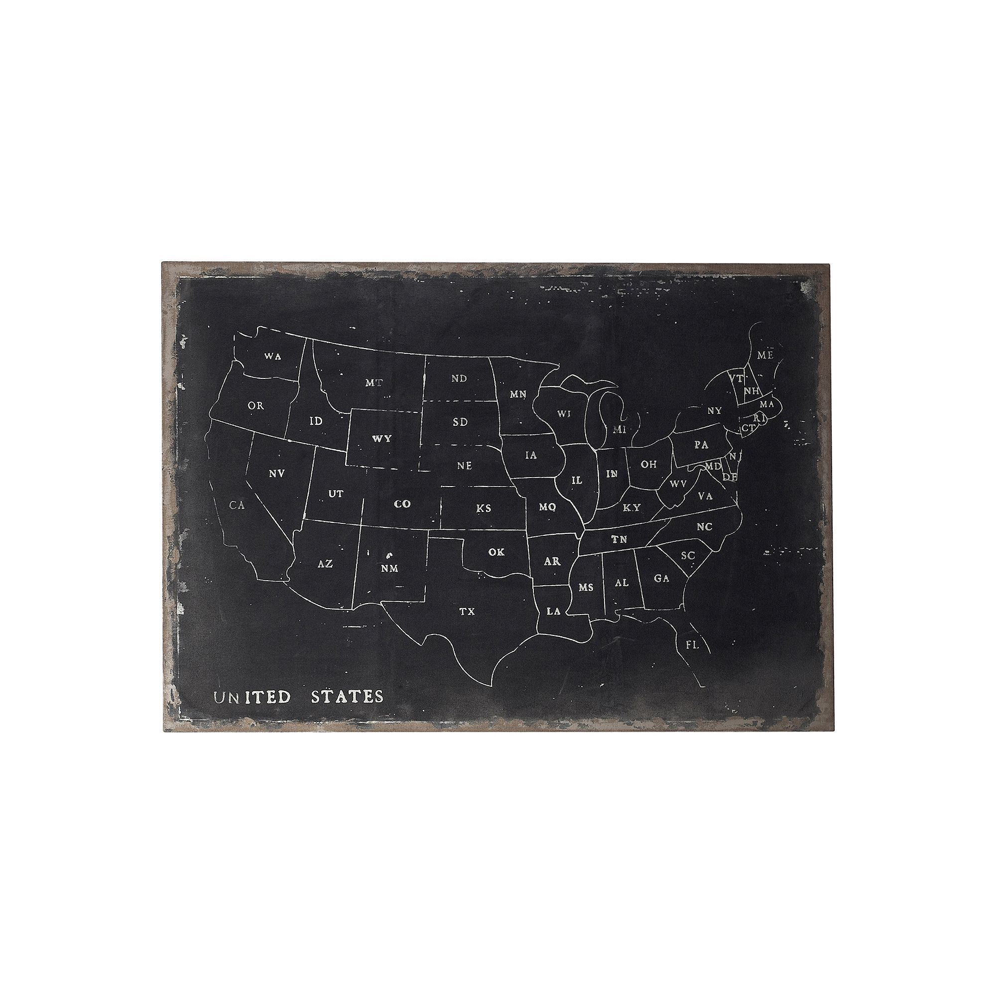 Sterling Usa Map Canvas Wall Art Multicolor Products - Us map canvas