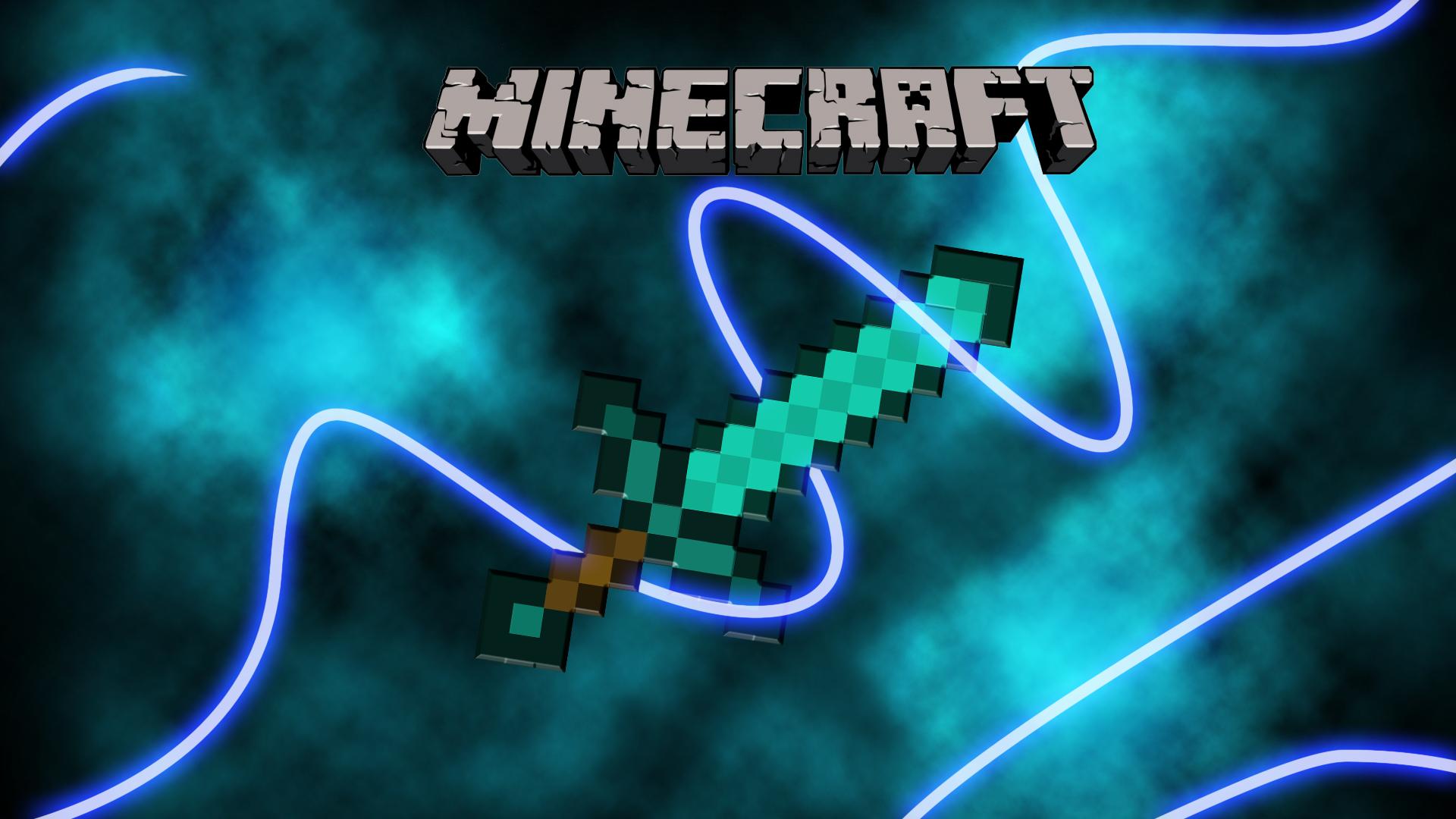 Minecraft Sword Diamond Fond Ecran Minecraft Image De Fond Minecraft