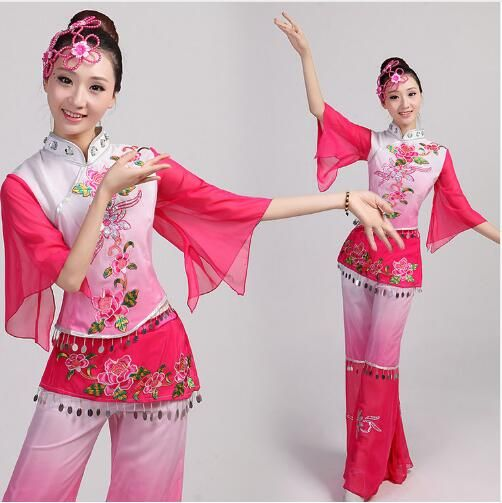 >> Click to Buy << Chinese traditional dance group stage performance Fan dance costume 2016 drum clothes costumes square clothes yonger costumes #Affiliate