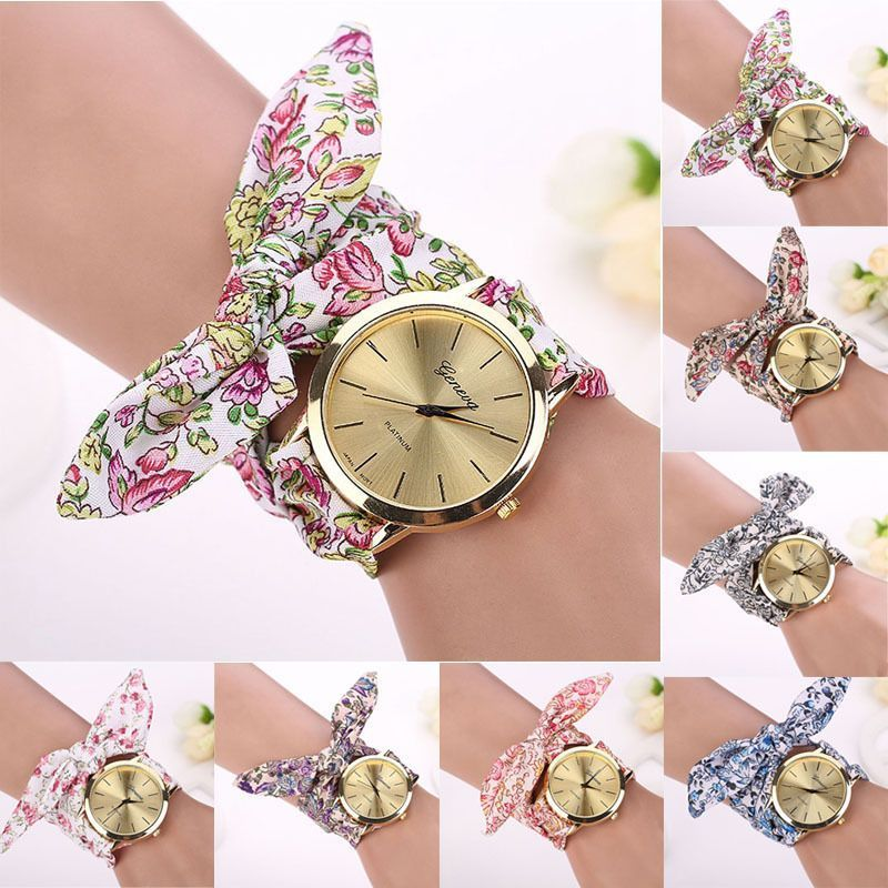 women gift new chiffon watches quartz floral girls fashion m shsby a watch lamdeps com ladies cloth ethnic sweet dress flower female