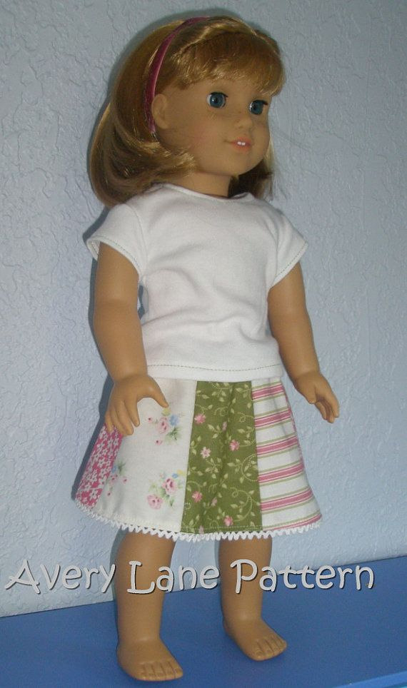 18 inch doll Clothes Sewing Pattern Ella Doll Dress Pattern 18\