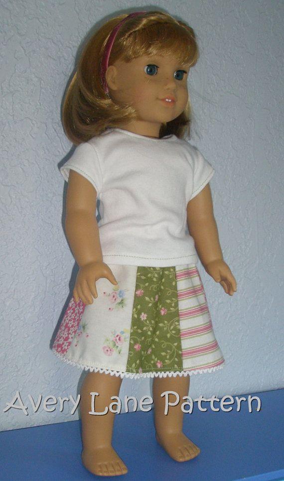 18 inch doll Clothes Sewing Pattern Ella Doll Dress Pattern 18\