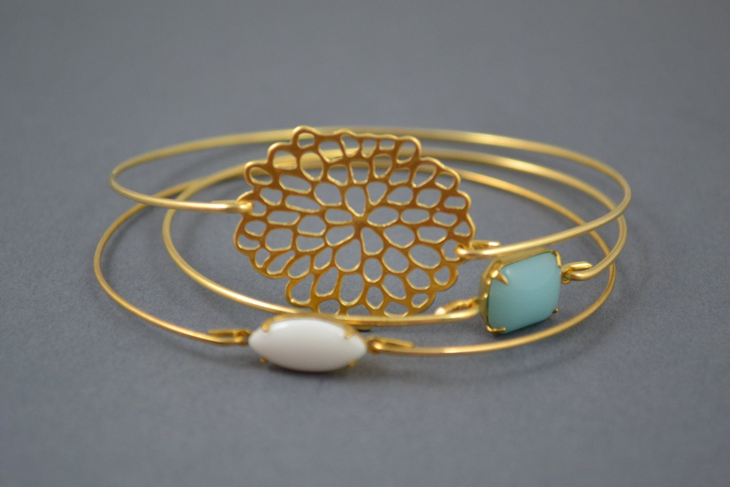 Gold Bangle, Gold Bracelet, Wire Bangle, Flower Bracelet, Christmas ...