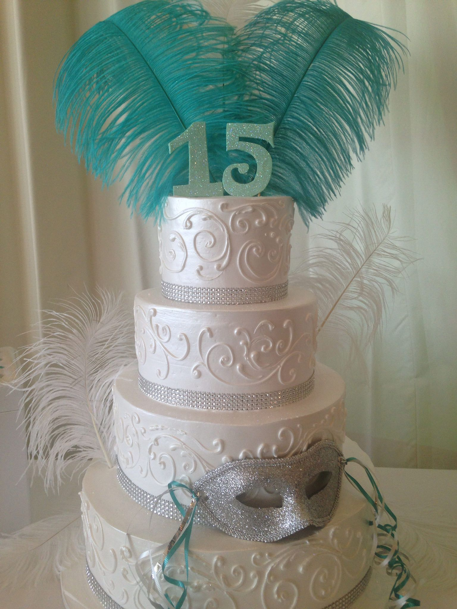 Quince Masquerade Cake 3716 In 2019 Girls Birthdays