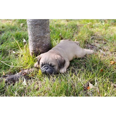 Hi-Line Gift Ltd. Pug Puppy Sleeping Statue | Wayfair