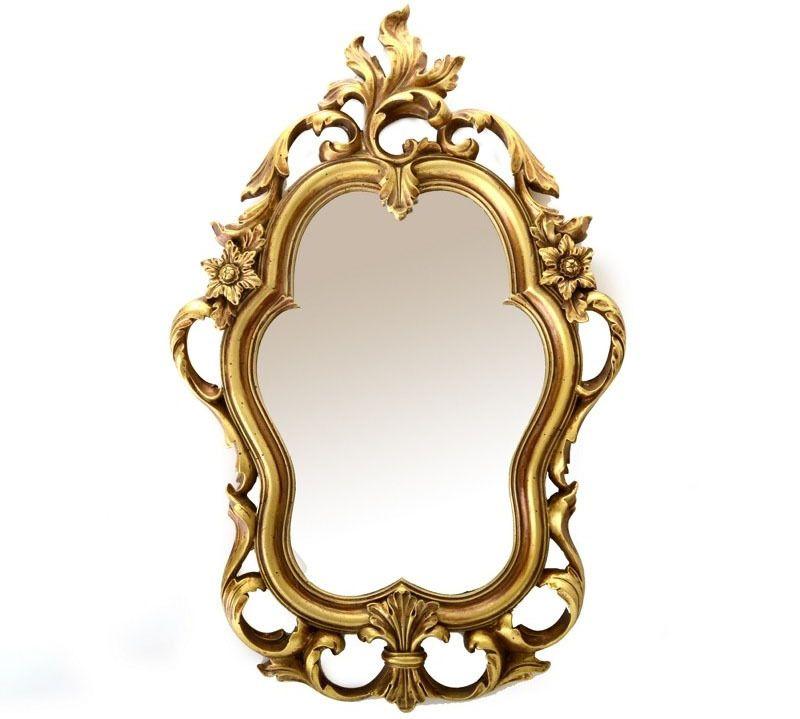 Espejo decorativo dorado retro vintage espejos dorados for Espejos decorativos dorados