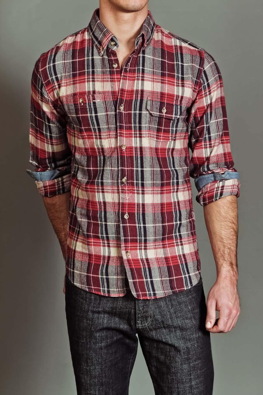 Flannel shirt season  SCIFEN BLUEPRINT FLANNEL SHIRT RED Originally  now   My