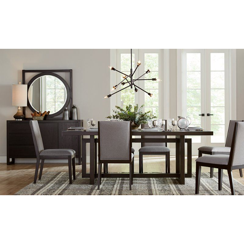 This Morning Brew Brown 5 Piece Dining Set From RC Willey Is Contemporary  In Its Design