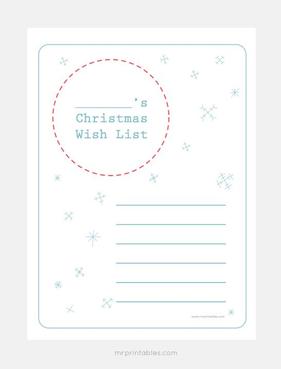 Christmas Wish List Templates - Mr Printables Christmas - christmas list templates