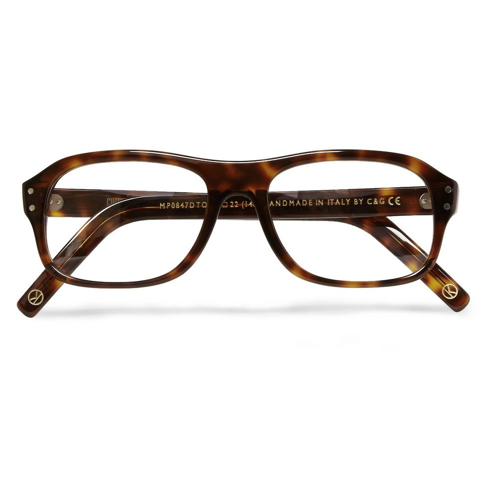 4e5df63ff6d Kingsman - Cutler and Gross Tortoiseshell Acetate Square-Frame Optical  Glasses