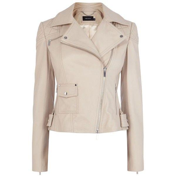 c7062d26d Karen Millen Pastel signature leather jacket ($610) ❤ liked on ...