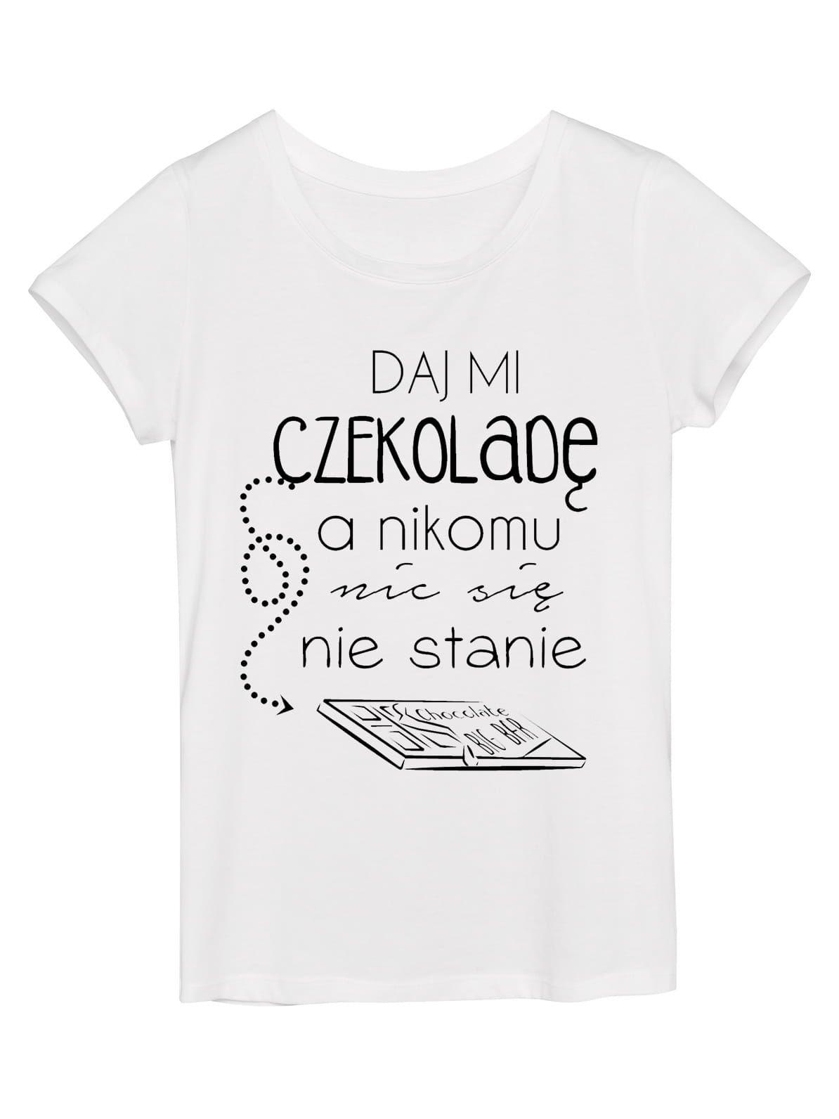 Koszulka Damska Daj Mi Czekolade In 2020 Koszulki Smieszne