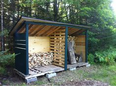 Hay Storage Shed Made From Pallets