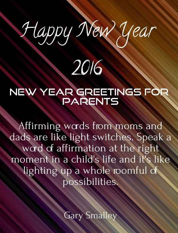 new year wishes for parents 2016