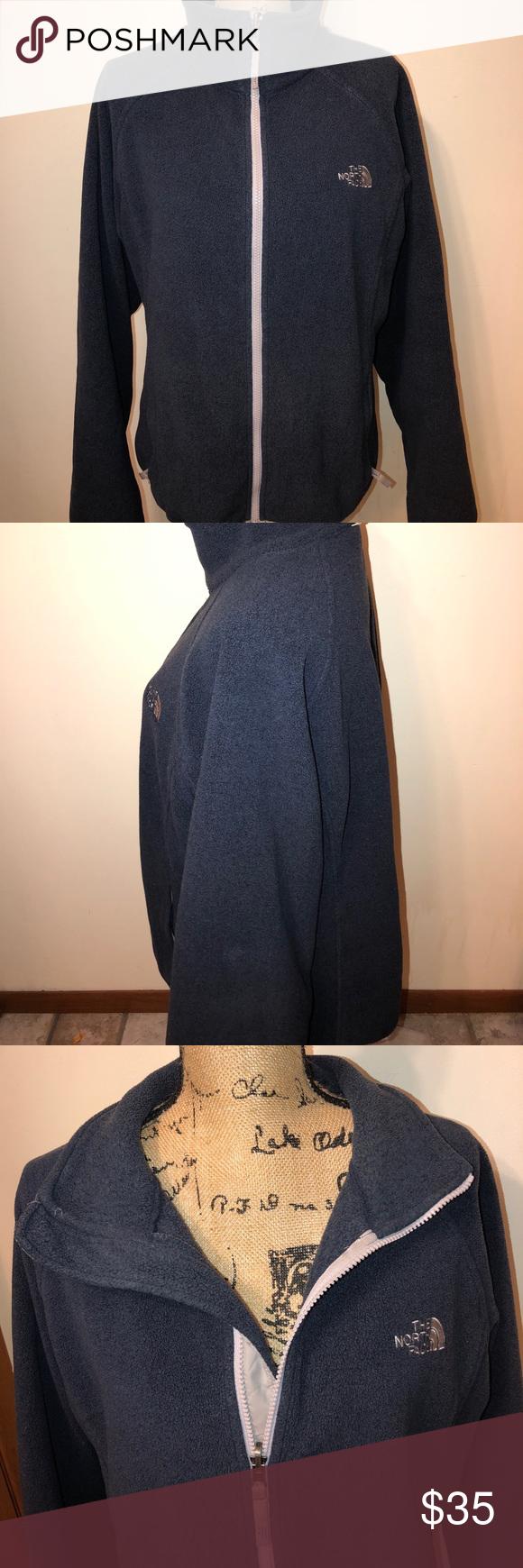 The north face zip up fleece jacket size xl North face women Zip