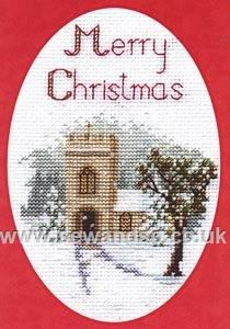 Buy The Church Greeting Card Cross Stitch Kit Online at www.sewandso.co.uk