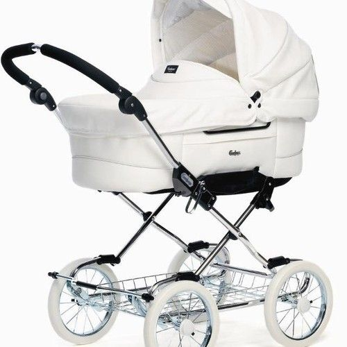 Baby Pushchair Leather White Leatherette Emmaljunga Baby Prams Vintage Pram