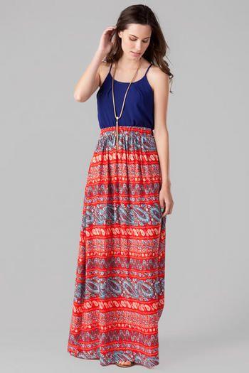 Brookford Paisley Maxi Skirt