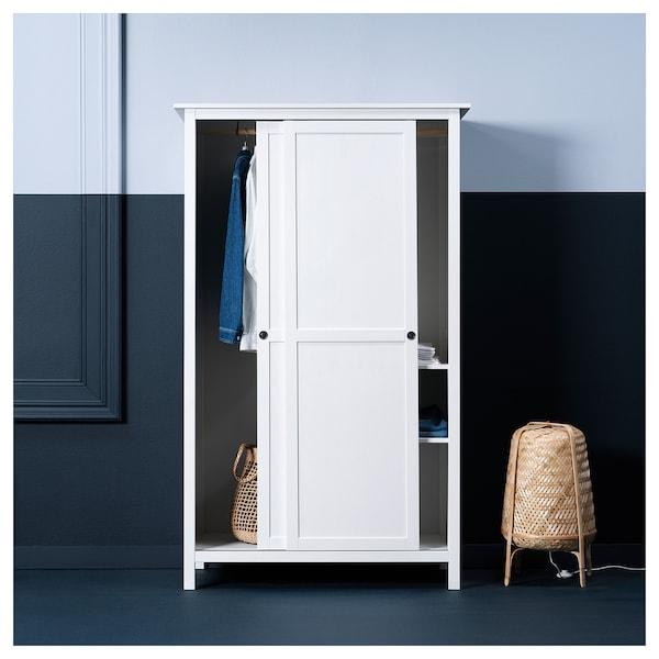 Ikea Pax Guardaroba 2 Ante.Hemnes Guardaroba Con 2 Ante Scorrevoli Mordente Bianco In 2020