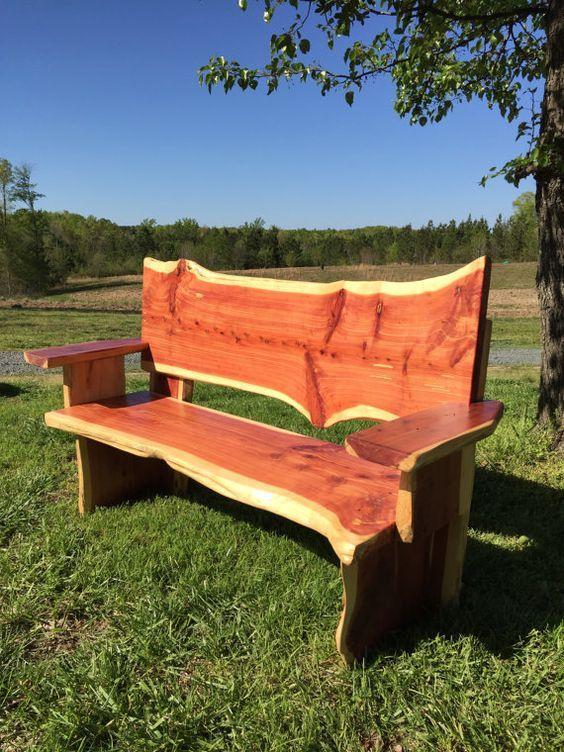 Cedar Bench By Midhurstfarms On Etsy Cedar Bench