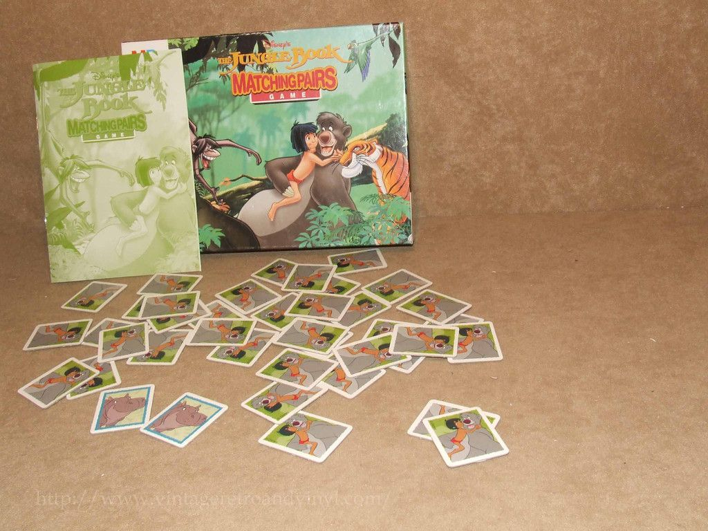 Uncategorized Memory Pairs jungle book matching pairs classic memory game boxed complete mb games