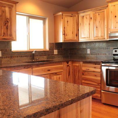 Knotty Hickory Kitchen Cabinets 4 844